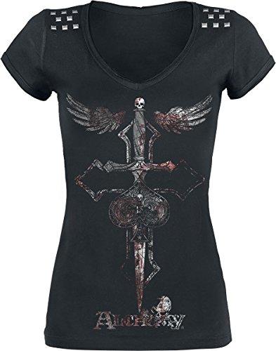 Alchemy England Cross Dagger Maglia donna nero M