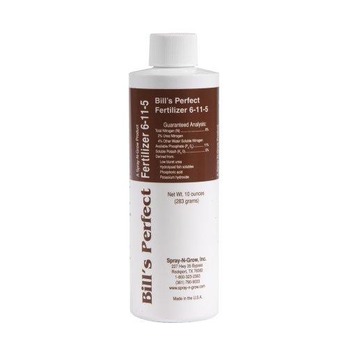 Spray-N-Grow BILL8 Bill's Perfect 6-11-5 Liquid Fertilizer, 10-Ounce (Discontinued by Manufacturer)