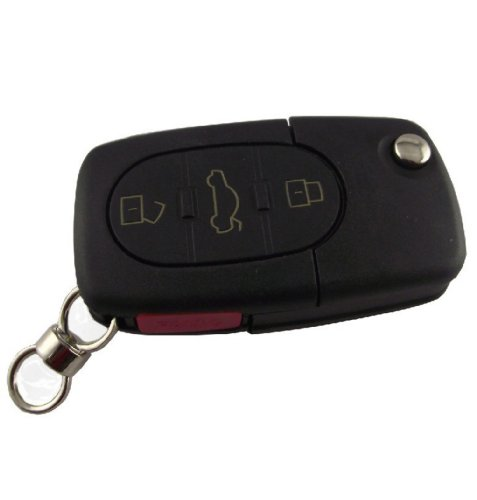 For VW Volkswagen Passat / Jetta / Beetle Golf 1998 1999 2000 2001 New 4 Buttons Flip Remote Key Shell Folding switch Car Fob Case (Just a Empty / Blank key shell, No Chips Inside) replacement folding key case shell for vw golf 7 no chip for volkswagen remote keyless shell auto parts key case with blade