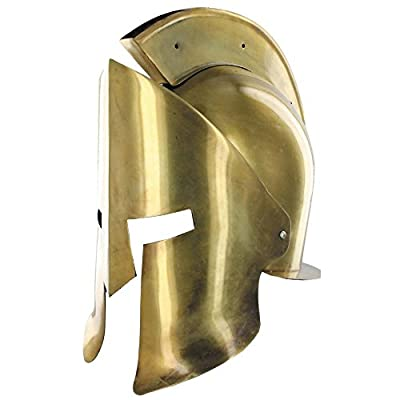 Greek Spartan Crested Brass Helmet