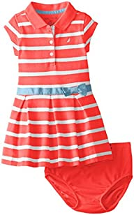 Nautica Baby Girls' Yarn Dye Stripe P…