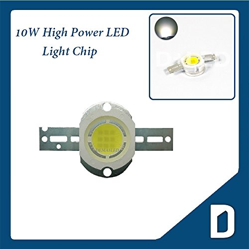 10W High Power Led - Cool White - Dc10.5V Input 1.05A Output - Surface Device - Energy Saving Lamp - Star - Component Chip - Flood Light Reflector Street Garden Fish Tank Decorative Bulb