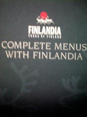 Finlandia Vodka of Finland Complete Menus with Finlandia