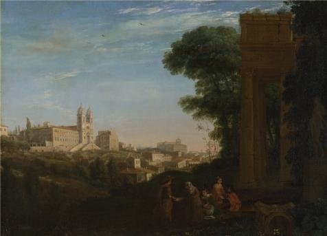 'Claude - A View In Rome,1632' Oil Painting, 16x22 Inch / 41x56 Cm ,printed On Perfect Effect Canvas ,this Beautiful Art Decorative Prints On Canvas Is Perfectly Suitalbe For Living Room Gallery Art And Home Gallery Art And Gifts (Youth Vapor Keystone 2 compare prices)