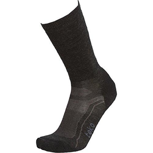 Teko Sin3Rgi Organic Merino Wool Light Casual, Walking And Hiking Socks, Charcoal/Black, Large front-621588