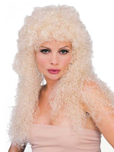Rubie's Costume Long Blond Curly Wig