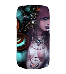 PrintDhaba Bold Animated Girl D-3593 Back Case Cover for SAMSUNG GALAXY S3 MINI (Multi-Coloured)