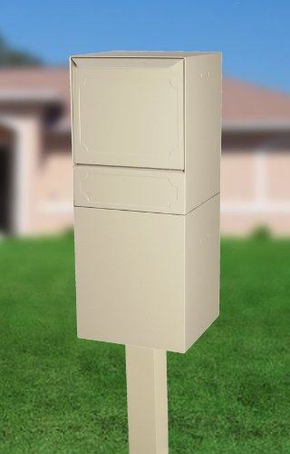 dVault Full Service Locking Mailbox, Sand Post/Column Mount Delivery Vault, Box and Center Mount In-Ground Post Kit, DVU0050PI-6-KIT, Sand
