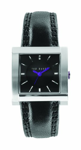 Ted Baker TE2002 Ladies black leather strap watch