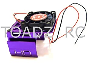 Hot Racing Purple 2 Way Top Fan Cool Motor Heat Sink MH550T07, Slash 4x4