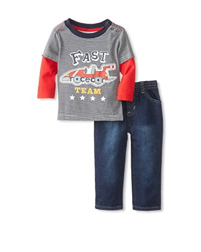 Kids Headquarters Baby Twofer Long Sleeve Top with Jeans