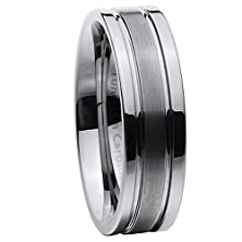 buy Men'S 8Mm Comfort Fit Contemporary Flat Profile Tungsten Wedding Ring