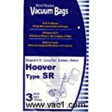 Hoover &quot;SR&quot; Vacuum Bags for Duros / Canisters #401010SR- Generic - 3 pack