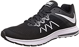 Nike Air Zoom Winflo 3 Men\'s Running Shoe (15 D(M) US, BLACK/WHITE/ANTHRACITE)