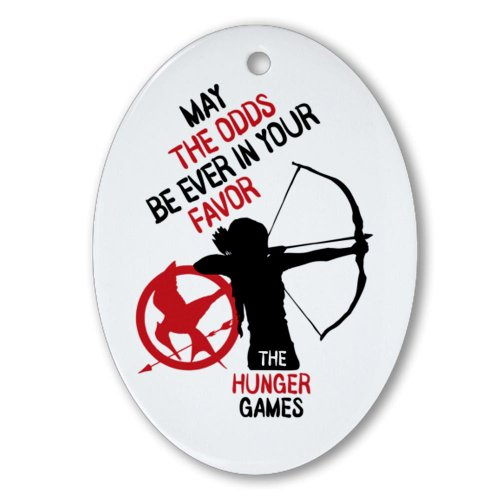 Katniss Hunger Games Ornament Oval Oval Ornament by CafePress