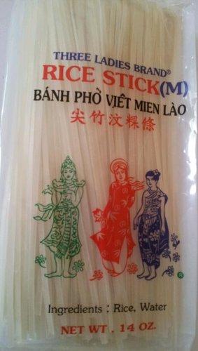 Rice Stick Noodle - 14 Oz. (Pack of 3 Bags) (Medium) (Pad Thai Rice Stick Noodles compare prices)