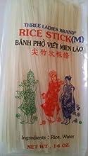 Rice Stick Noodle - 14 Oz Pack of 3 Bags Medium