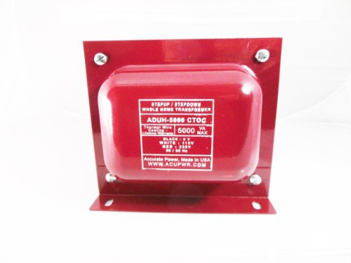 Acupwr Tm Aduh-5000 High End Step Up/Down Transformer Powers Large Size House 110-240V Lifetime Warranty Made In Usa