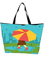 Snoogg Abstract Rainy Season Background With Waterdrops And Clouds Waterproof Bag Made Of High Strength Nylon
