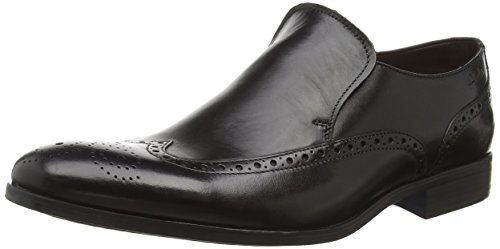 ClarksBanfield Slip - Scarpe chiuse uomo , Nero (Nero (Black Leather)), 42