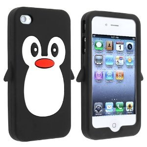 Fosmon Penguin Design Soft Silicone Case for