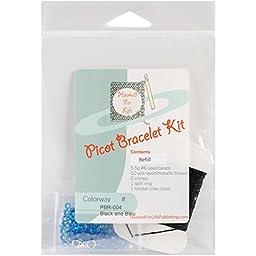 Picot Bracelet Kit Refill-Black & Bleu