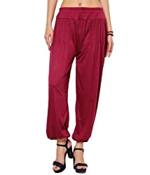Adam N Eve Womens Cotton Harem -Red, (Free Size)