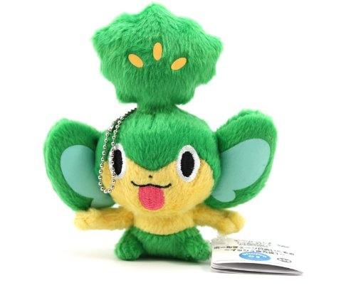 "Pokémon Best Wishes Banpresto Plush Ball Chain - 5"" - Pansage/Yanappu"