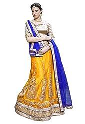 PARISHA Yellow Embroidried Semi Stitched Lehenga Choli SAIAMR3113