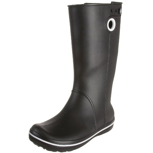 Crocs Women's Crocband Jaunt Black Wellingtons Boots 10970-001-520 9 UK