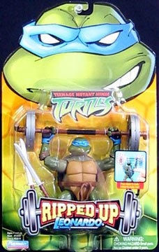 Picture of Playmates Leonardo from Teenage Mutant Ninja Turtles Ripped Up Action Figure (B000LB2D76) (TNMT Action Figures)