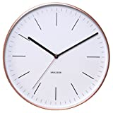 Karlsson Classic Minimal Whiteface With Copper Surround Wall Clock
