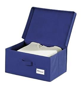 Wenko 4260050100 Aufbewahrungsbox Air M - atmungsaktives Vlies, 39 x 29 x 19 cm, dunkelblau