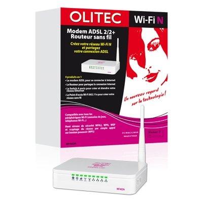Olitec Routeur Modem ADSL WF402N Routeur sans fil DSL commutateur 4 ports 802.11b/g/n Ordinateur de bureau