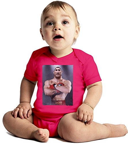 Vitali Klitschko Illustration Amazing Quality Baby Bodysuit by True Fans Apparel - Made From 100% Organic Cotton- Super Soft V-Neck Style - Unisex Design- Perfect As A Present 3-6 months