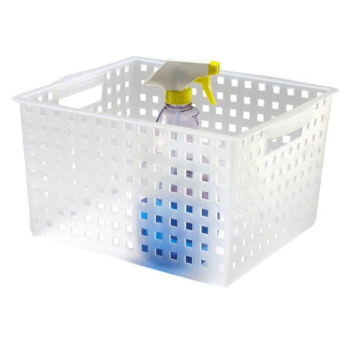 InterDesign Large Storage Basket, Frost