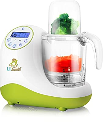 Versatile Baby Food Maker, Mill, Grinder, Blender, Steamer, Reheat, Bottle & Pacifier Warmer & Sterilizer. Digital Controls, LCD Display, Timer & Bowl Lock System. 2 Foods At Once. by Lil' Jumbl that we recomend personally.