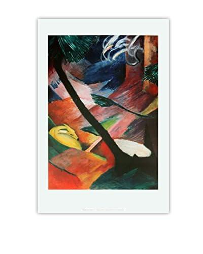 "Franz Marc ""Deer in the Woods II"" 2004 Unframed Poster, Multi"