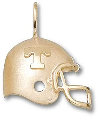 Tennessee Volunteers T Helmet Pendant - 14KT Gold Jewelry by Logo Art