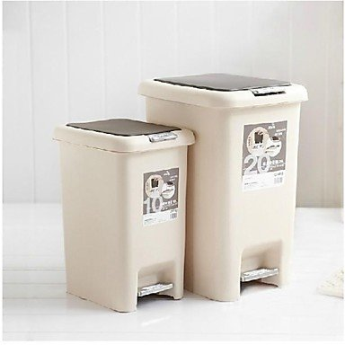Kitchen boutique convenience and durability Pedal Type With Cover Fashion Household Living Room Kitchen Foot Garbage Can Plastic 8.3