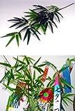山久 七夕飾り お盆に 手入れ簡単 シルクフラワー 「笹竹」 (小サイズ 約73cm) CT触媒加工1606-0015-tanp【造花】