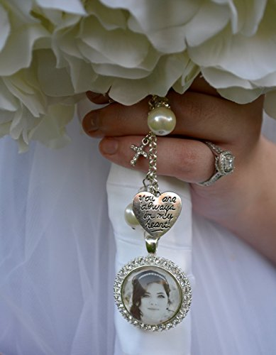 Bridal Bouquet Charm, Wedding Bouquet Pendant, Bridal Accessories