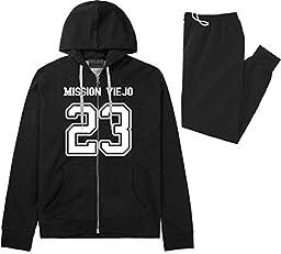 Sport Style Mission Viejo 23 Team Jersey City California Sweat Suit Sweatpants Large Black