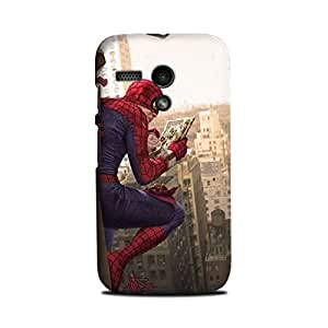 Yashas Moto G Designer Printed Case & Covers (Moto G Back Cover) - Superhero Spiderman