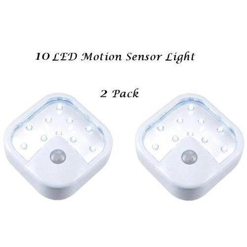 10 LED Wireless Motion Sensor Light -  2 Pack