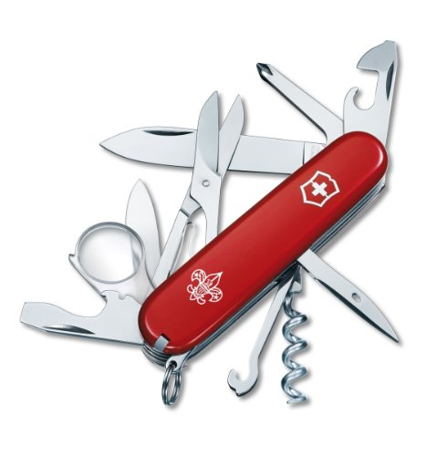 Victorinox Swiss Army Explorer Boy Scout Pocket Knife Red