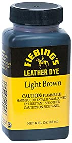 Fiebing's Leather Dye, Light Brown, 4 oz.