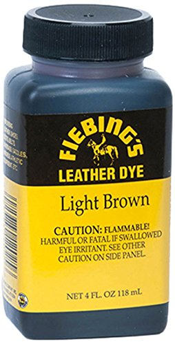 Fiebing's Leather Dye, Light Brown, 4 oz. (Angelus Leather Dye compare prices)