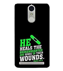EPICCASE heals the broken heart Mobile Back Case Cover For Lenovo K5 Note (Designer Case)