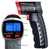 Infrared Thermometer, Non Contact Measuring Temperature with Laser Point Sighting, Max. 968°F (520°C)